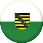 Saxony Flag 25mm Keyring
